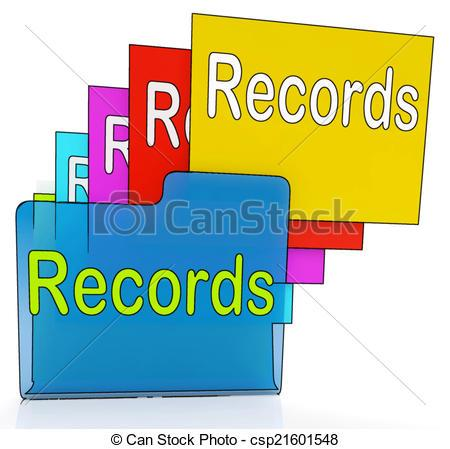 Evidence clipart evidence folder. Records folders shows files