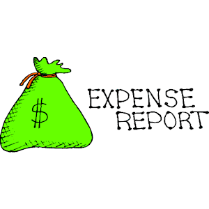 Software saves banks time. Evidence clipart expense report
