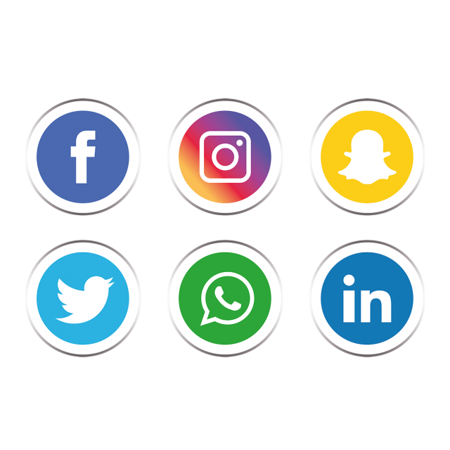 Social media icon png. Icons set and vector
