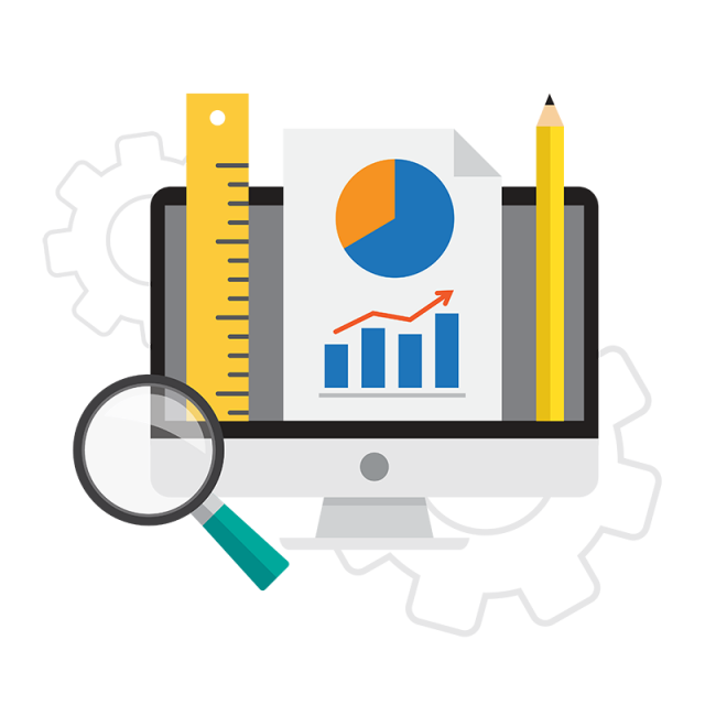 Evidence clipart icon. Business analysis in vectors
