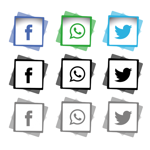Evidence clipart icon. Social media icons set