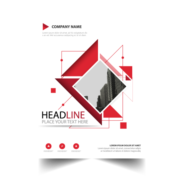 Abstract brochure report template. Evidence clipart information leaflet