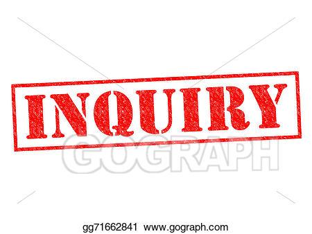 Evidence clipart inquiry. Clip art stock illustration