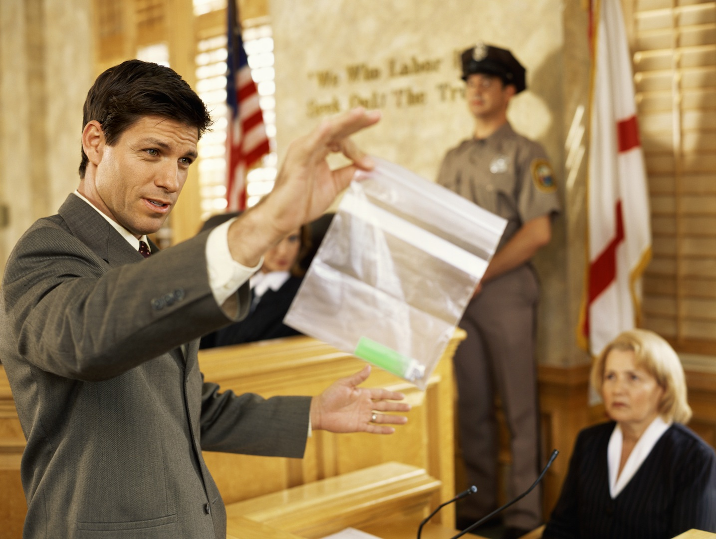 Male lawyer displaying to. Evidence clipart jury