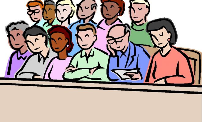 Evidence clipart jury trial.  federal court victory