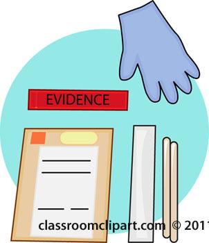 Evidence clipart kit. Illustration portal