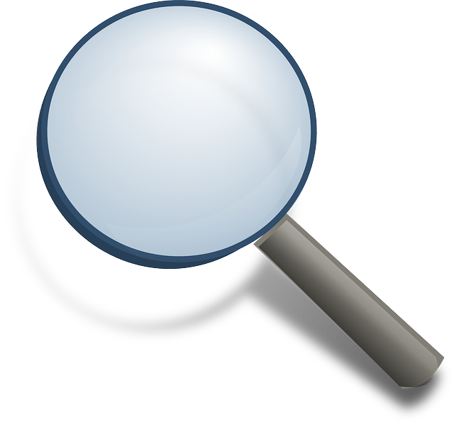 Search karas on crime. Mystery clipart magnifier