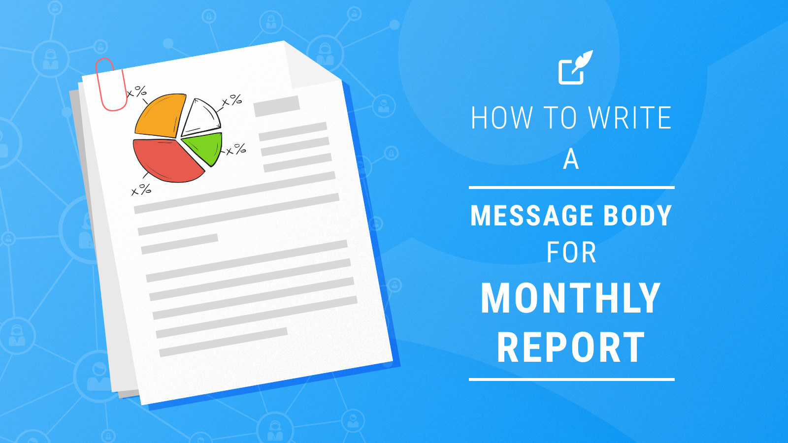 How to write a. Evidence clipart monthly report