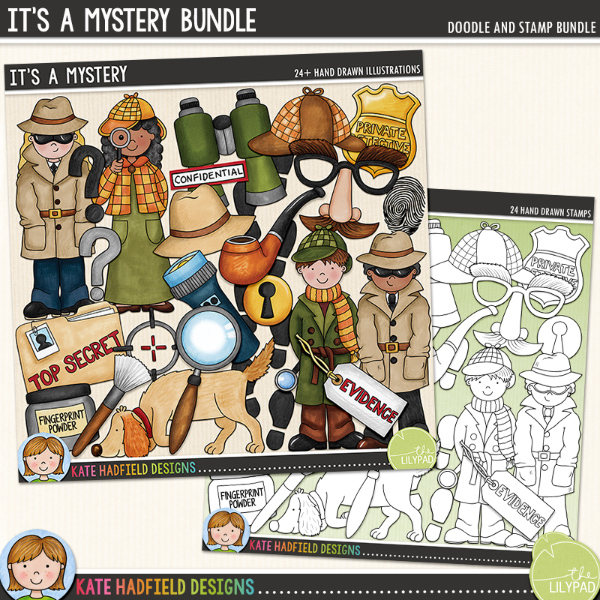 It s a bundle. Evidence clipart mystery solved
