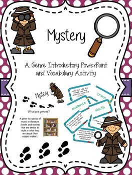 Evidence clipart mystery. Genre intro and activity