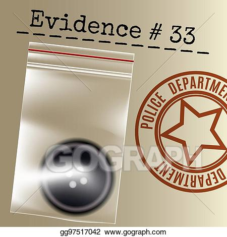 Vector art case drawing. Evidence clipart police evidence