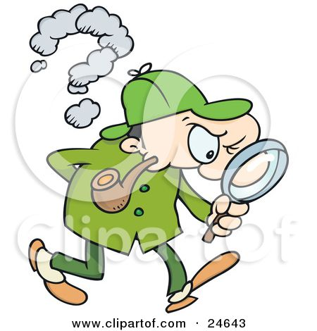 Illustration of holmes a. Evidence clipart sherlock homes