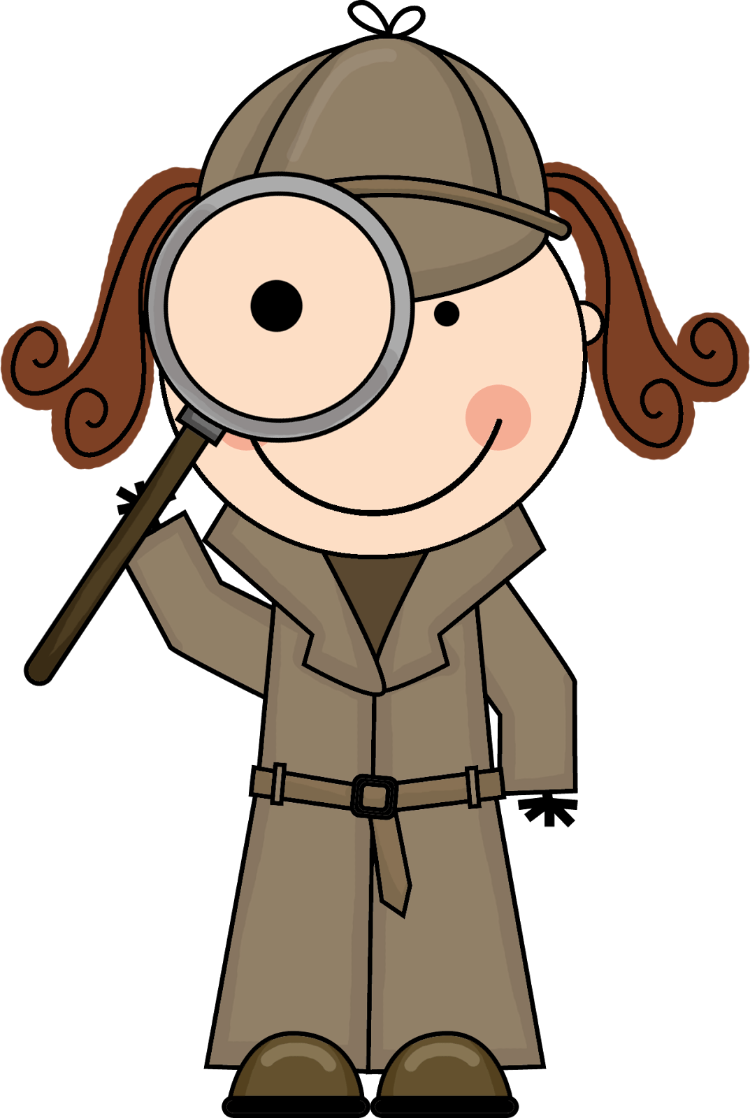 Detective clipart little. Evidence group hunting scene
