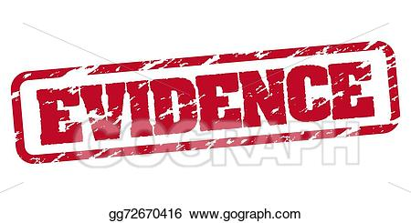 Vector rubber illustration . Evidence clipart stamp