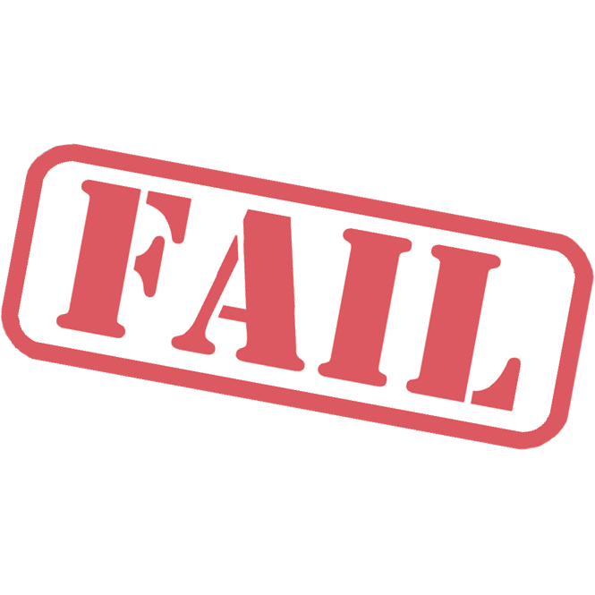 Failure som info. Stamp clipart evidence