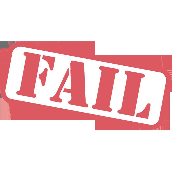 Failure som info. Evidence clipart stamp