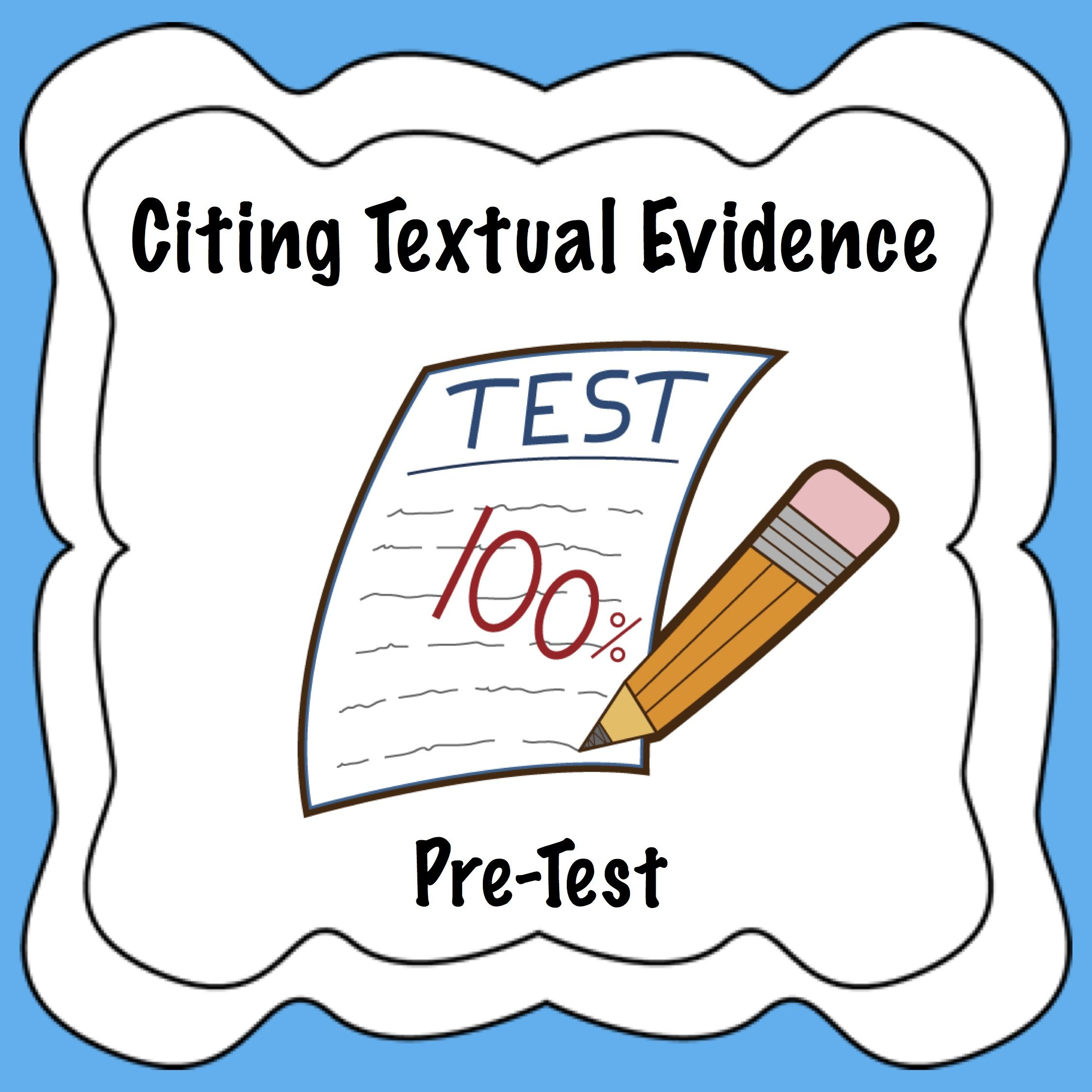Citing pre assessment common. Evidence clipart textual evidence