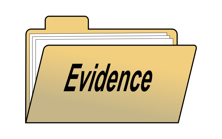 Evidence clipart word. Based approach to origins