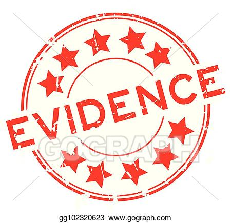 Vector grunge red with. Evidence clipart word