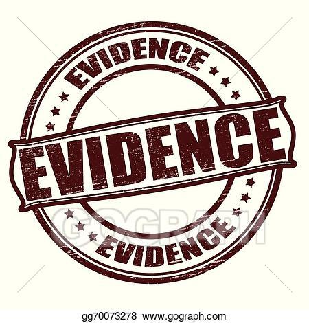 Evidence clipart word. Vector stock illustration gg