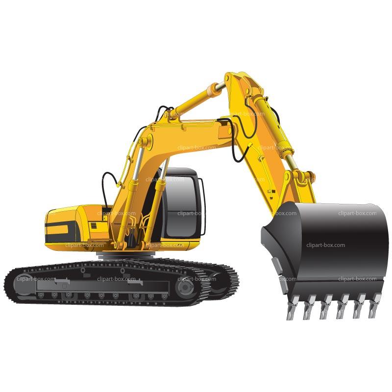 Excavator clipart. Cat