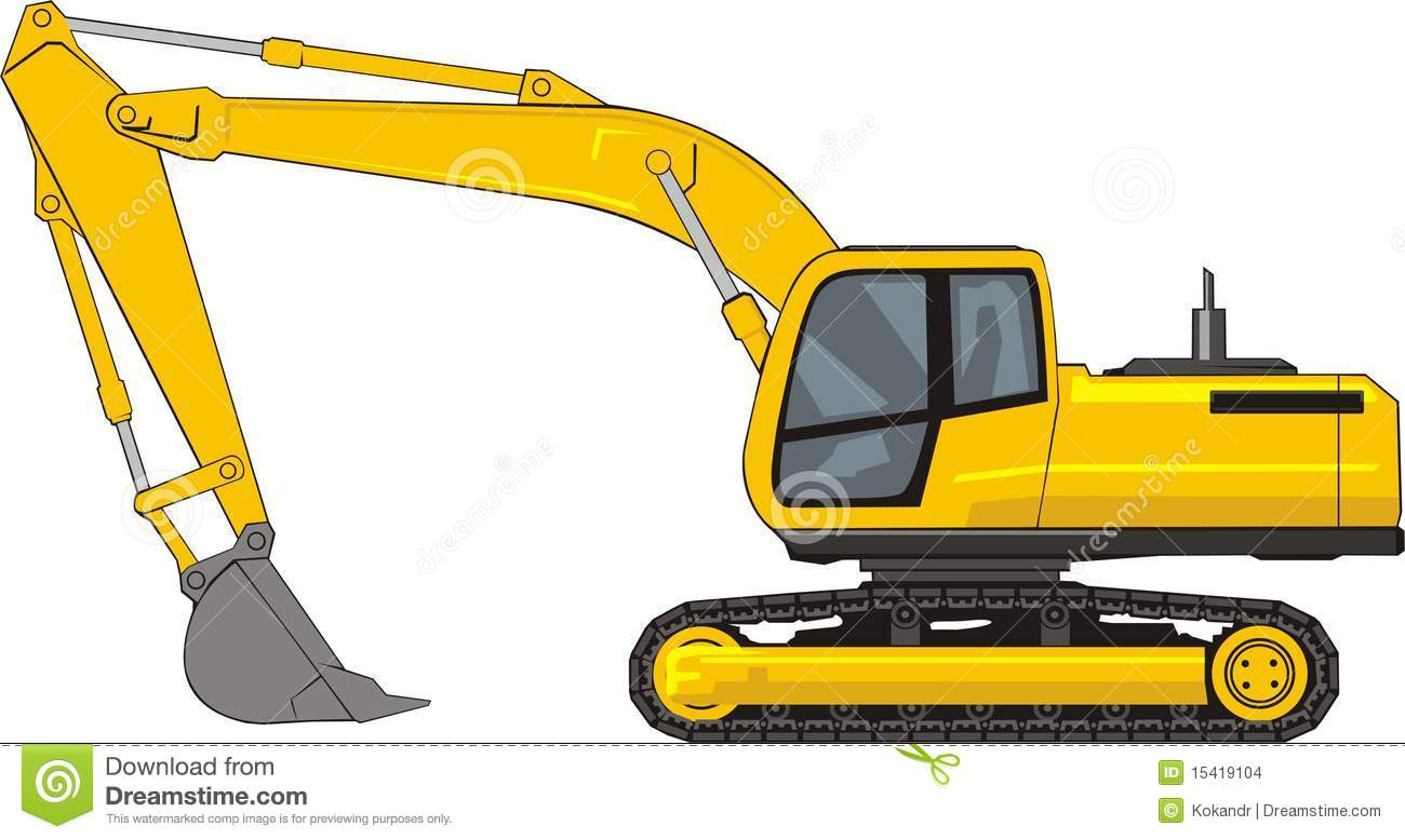 collection of cat. Excavator clipart