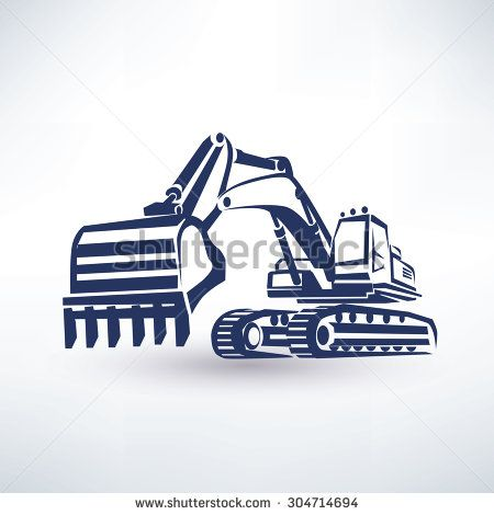 Backhoe clipart black and white. Excavator free stock photos