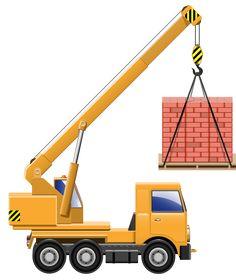 Excavator clipart. Cartoon clip art freebies