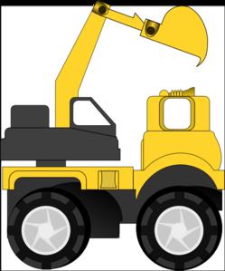 Excavator clipart. Clip art at clker