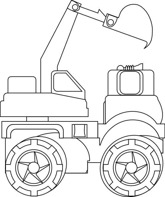 Excavator clipart black and white. Clipartist net clip art