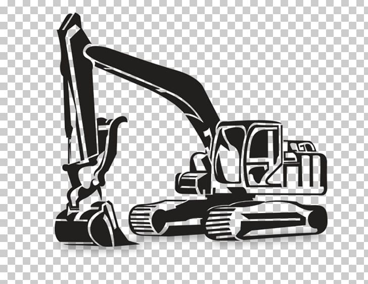 Excavator clipart black and white. Backhoe earthworks machine png