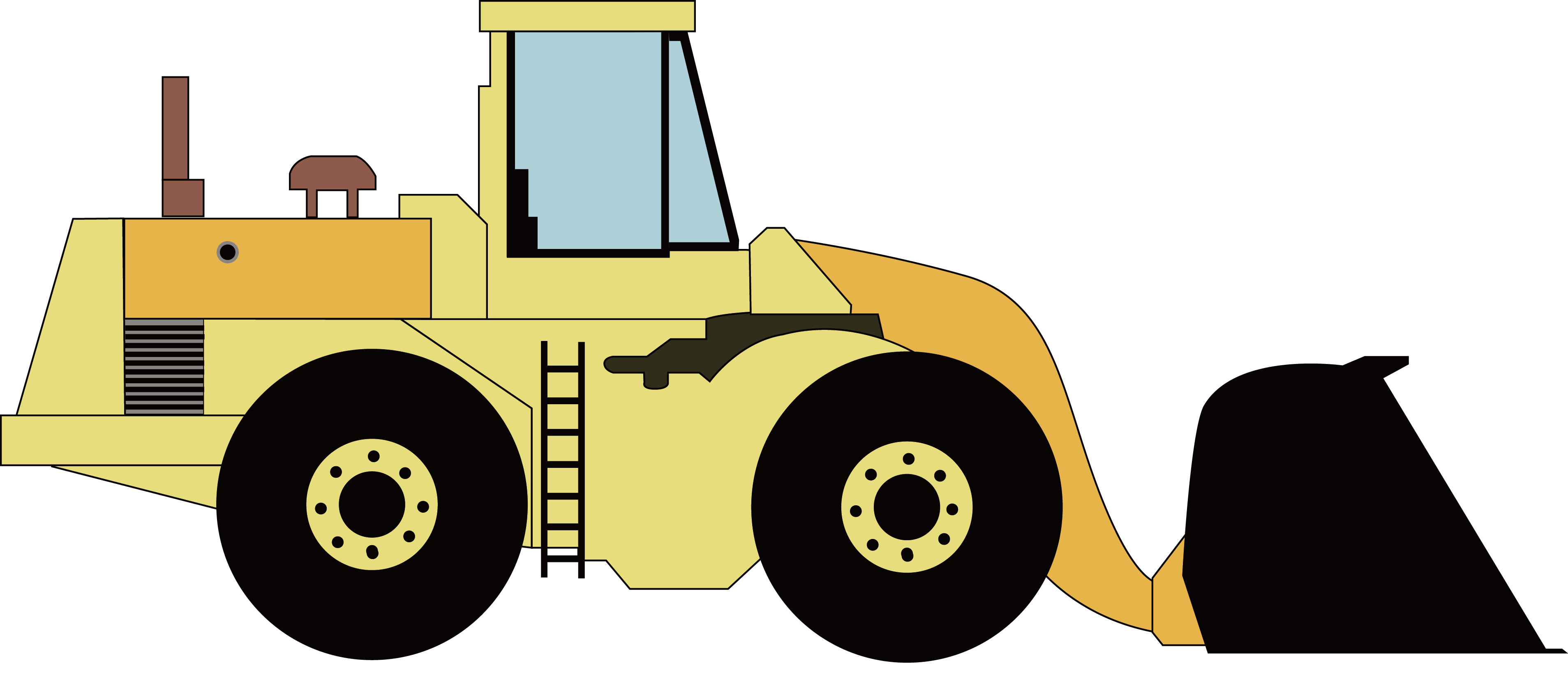 Municipal use of old. Excavator clipart car