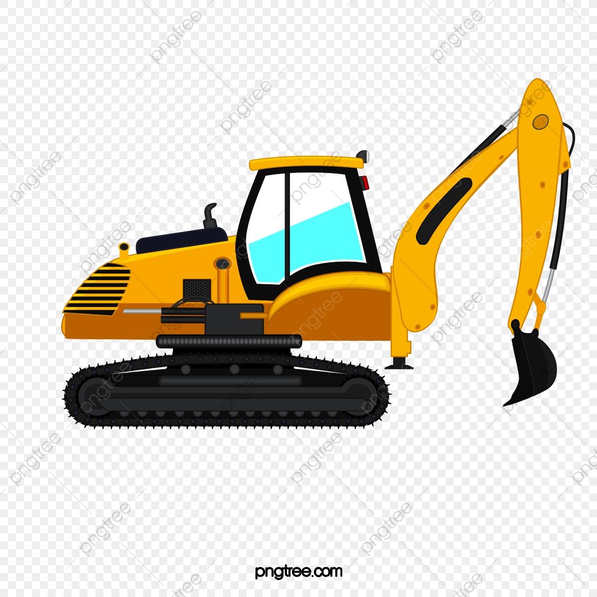 An . Excavator clipart cartoon
