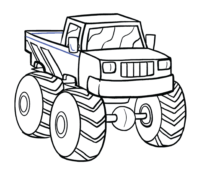 Truck drawing images at. Excavator clipart coloring book