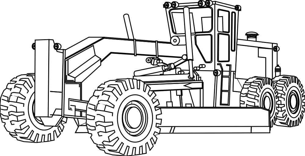 Excavator Clipart Coloring Book Excavator Coloring Book