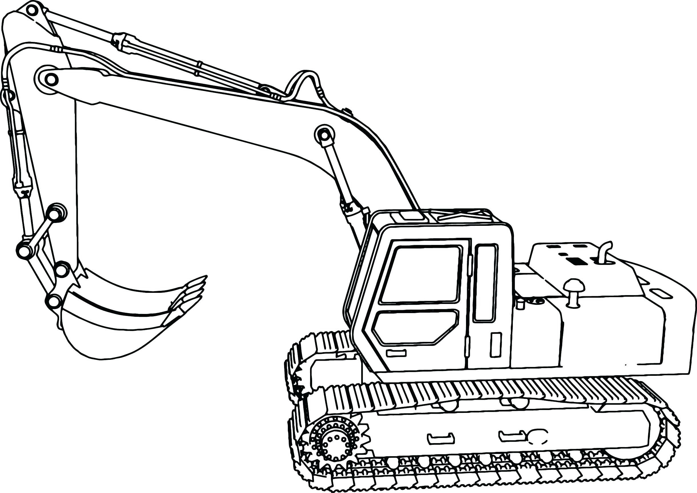 Excavator clipart coloring book. Pin on