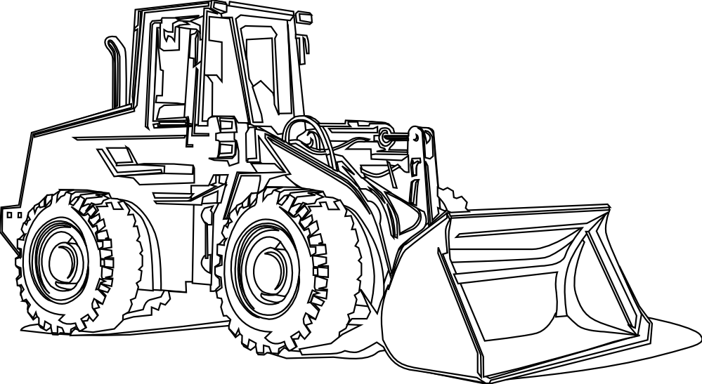 excavator clipart colouring page excavator colouring page