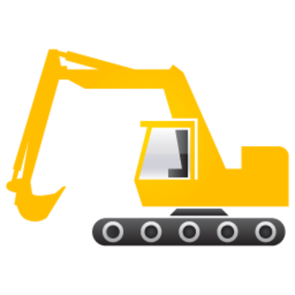 Excavator clipart construction.  collection of digger