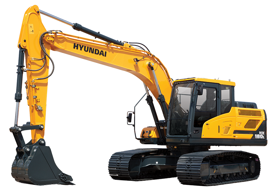 Hx l hyundai equipment. Excavator clipart construction machine