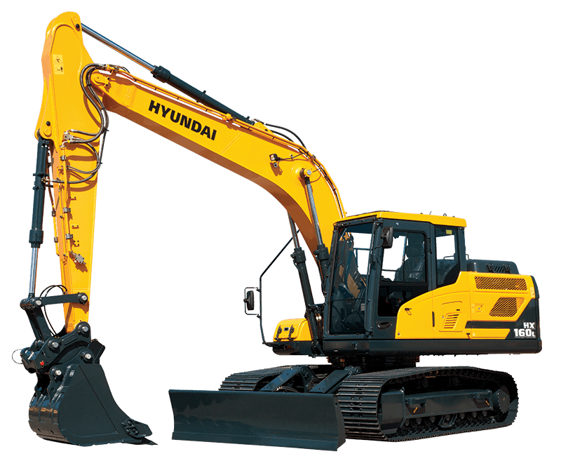 Excavator clipart construction machine. Hx l hyundai equipment