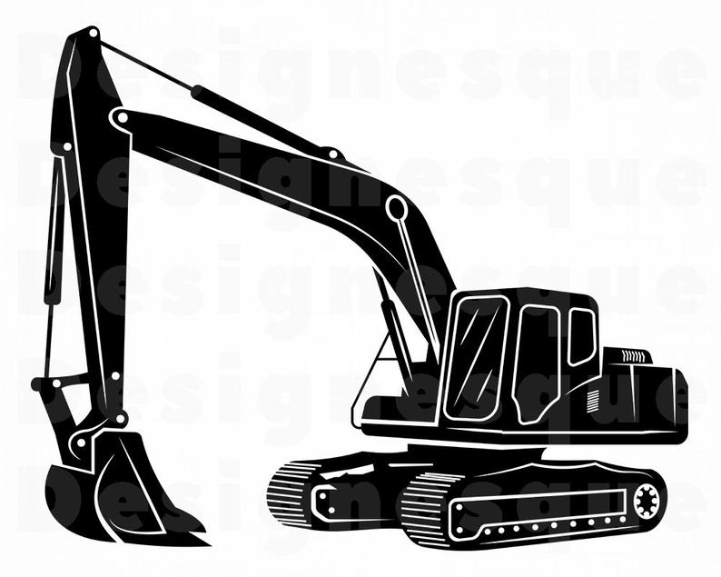Svg heavy equipment files. Excavator clipart construction machinery