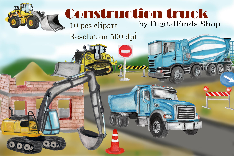 Excavator clipart construction vehicle. Truck dump