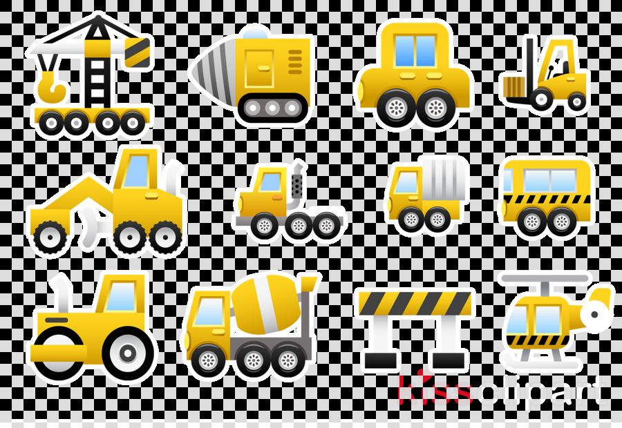 Excavator clipart construction vehicle. Icon truck