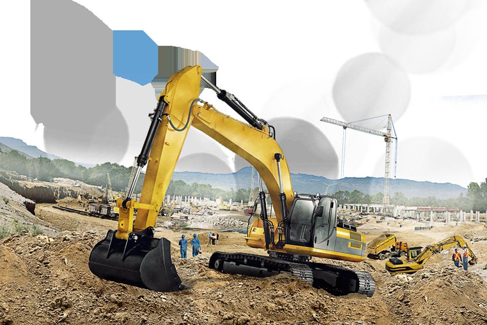 Excavator clipart demolition. Display