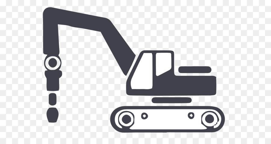 Technology background . Excavator clipart demolition