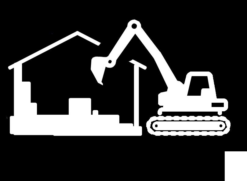 Excavator clipart demolition. Bin it ltd welcome
