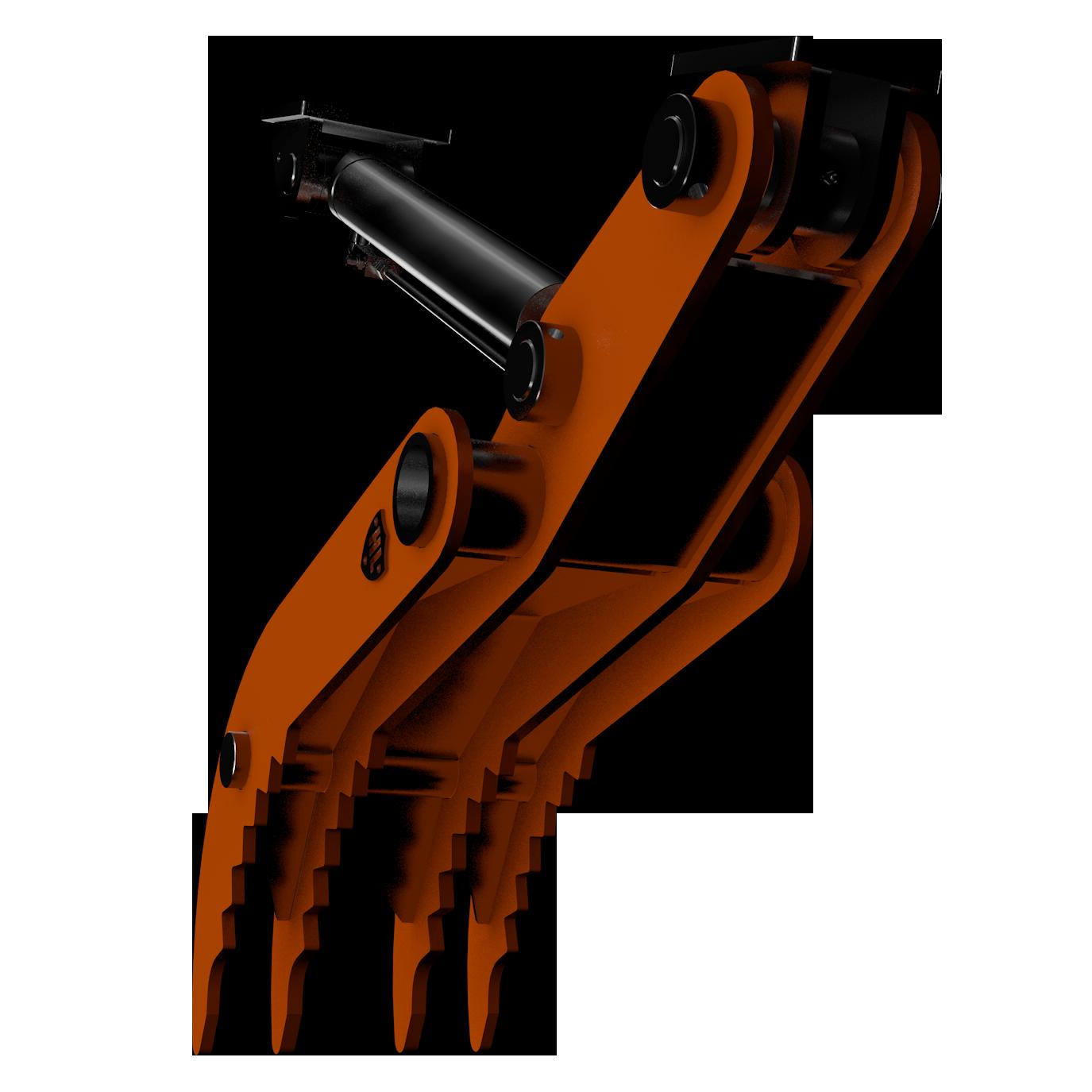 Hydraulic thumb . Excavator clipart digger