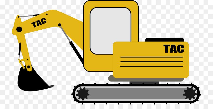 Excavator clipart digger. Yellow background bulldozer graphics