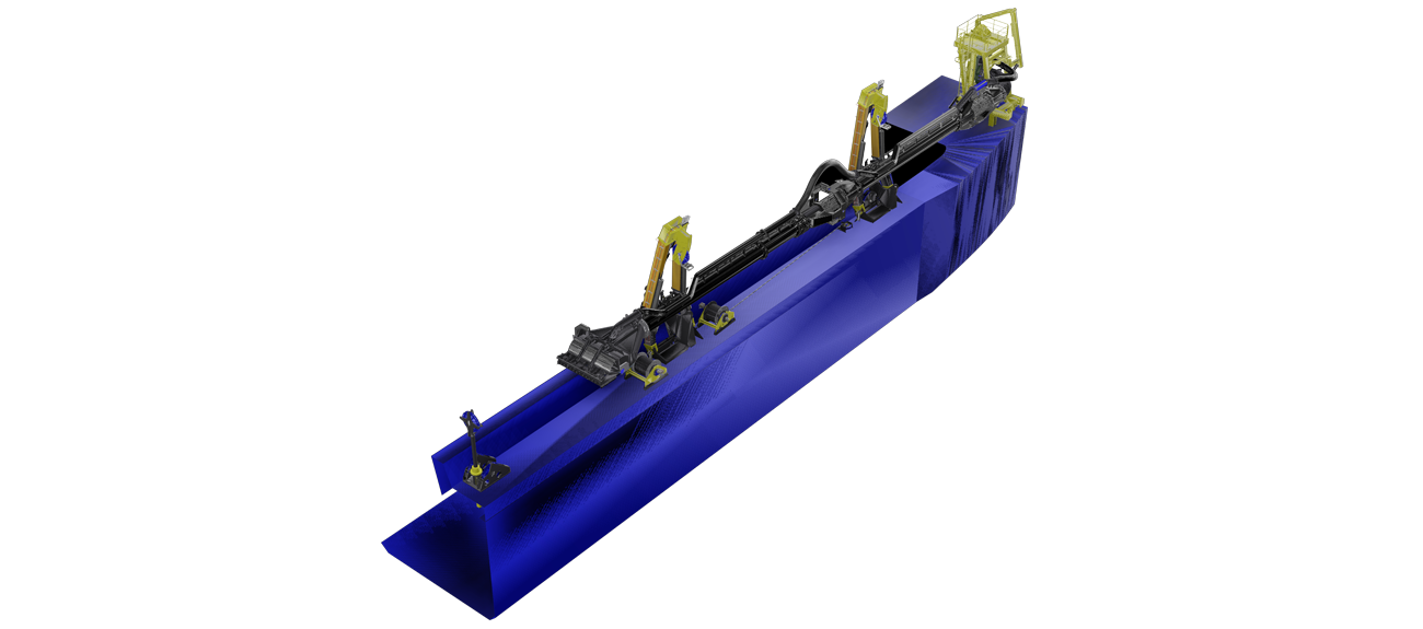 Trailing suction pipe the. Excavator clipart dredging