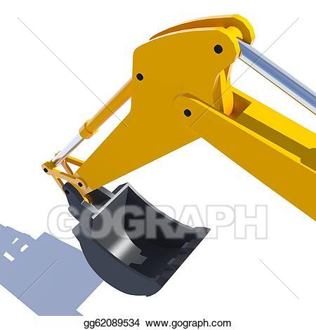 Stock illustration clip art. Excavator clipart excavator bucket